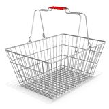 3d empty shopping basket Royalty Free Stock Images