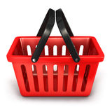 3d empty shopping basket. White background, 3d image Royalty Free Stock Photo