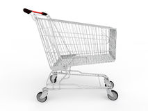 3D Empty shopping trolley Stock Image