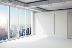 3d empty space interior with big windows and view. 3d empty space interior with big windows and nice view vector illustration