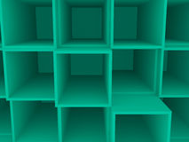 3d empty square box shelf, background Royalty Free Stock Images