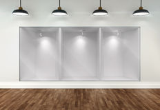 3d empty storefront of shop Royalty Free Stock Photography