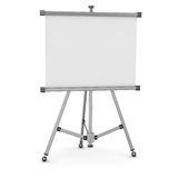 3d empty whiteboard Royalty Free Stock Photo