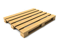 3d Empty wooden palet Stock Image