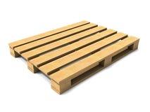 3d Empty wooden palet. 3d render of an empty wooden palet Stock Image