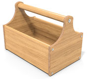 3d empty wooden toolbox Stock Image