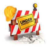 3d en construction Photo stock