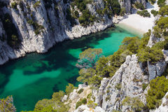 D'En Vau de Calanques cerca de la casis Provence imagen de archivo libre de regalías