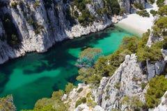 D'En Vau de Calanques perto do cássis Provence imagem de stock royalty free