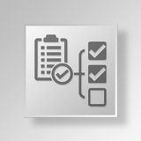 3D  End project report Button Icon Concept Stock Image