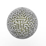 3d endless labyrinth maze planet ball royalty free illustration