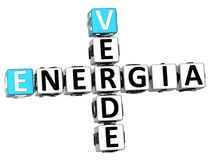 3D Energia Verde Crossword Royalty Free Stock Images