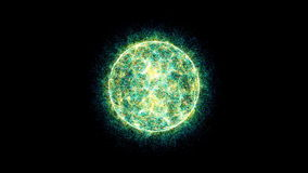 3d energy ball motion background stock footage