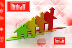 3d, Energy efficiency concept Stock Photography