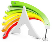3d Energy efficiency concept Royalty Free Stock Images