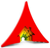 3d Energy efficiency concept Royalty Free Stock Image