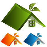 3d Energy Green House Stock Photo