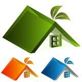 3d Energy Green House Stock Photo