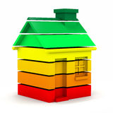 3d Energy usage house chart Royalty Free Stock Images
