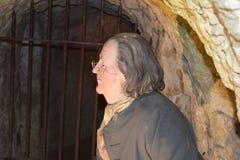 14/01/2018 d'enfer des cavernes du feu, Wycombe occidental Sir Francis Dashwood et Benjamin Franklin Images stock