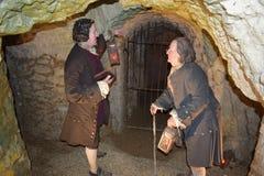 14/01/2018 d'enfer des cavernes du feu, Wycombe occidental Sir Francis Dashwood et Benjamin Franklin Image stock