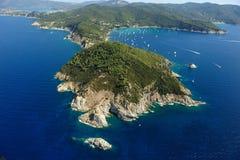 d'Enfola van Elba eiland-Capo Stock Afbeelding