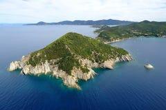 d'Enfola van Elba eiland-Capo Stock Afbeeldingen