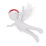 3d engel met vleugels die door de lucht vliegen royalty-vrije illustratie