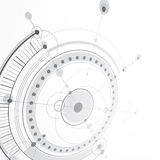 3d engineering technology vector backdrop. Futuristic technical. Plan, mechanism. Monochrome mechanical scheme, dimensional abstract industrial design can be Stock Image