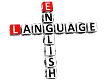 3D English Language Crossword Royalty Free Stock Photography