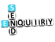 3D Enquiry Send Crossword. On white background Stock Photo