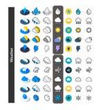 D'ensemble d'icônes dans le style différent - versions isométriques d'appartement et d'otline, colorée et noires Photos stock