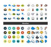 D'ensemble d'icônes dans le style différent - versions isométriques d'appartement et d'otline, colorée et noires Images stock