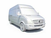 3d entrega blanca Van Icon ilustración del vector
