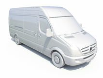 3d entrega branca Van Icon Imagem de Stock