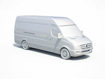 3d entrega branca Van Icon Fotografia de Stock Royalty Free