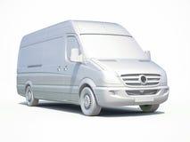 3d entrega branca Van Icon Foto de Stock