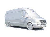 3d entrega branca Van Icon Fotografia de Stock