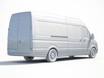 3d entrega branca Van Icon Fotos de Stock