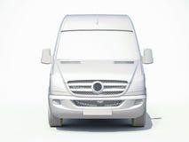 3d entrega branca Van Icon Fotos de Stock Royalty Free