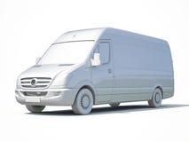 3d entrega branca Van Icon ilustração stock