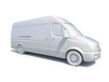 3d entrega branca Van Icon Imagem de Stock Royalty Free