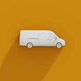 3d entrega branca Van Icon Imagens de Stock