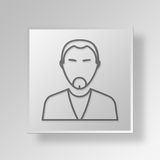 3D entrepreneur Button Icon Concept Photos stock