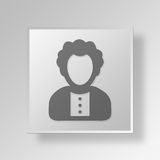 3D entrepreneur Button Icon Concept Image stock