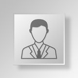 3D entrepreneur Button Icon Concept Photographie stock