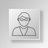 3D entrepreneur Button Icon Concept Photo libre de droits