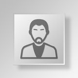 3D entrepreneur Button Icon Concept Photos libres de droits