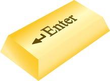 D'or entrez dans le bouton Photos libres de droits