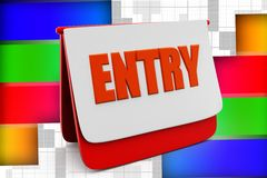 3d entry Royalty Free Stock Image